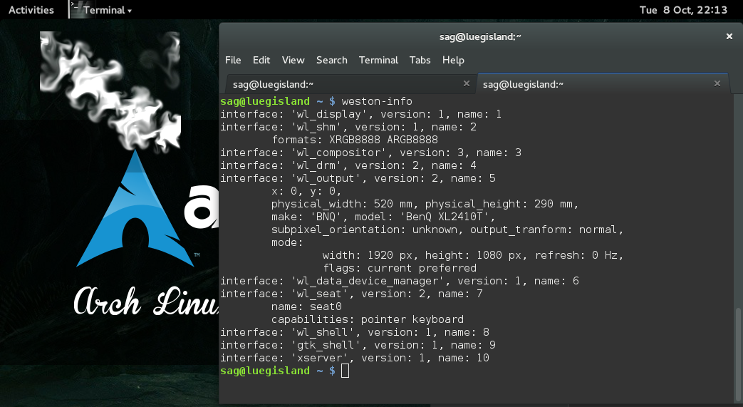 Arch Linux: Gnome 3 10 on Wayland | falstaff - yet another