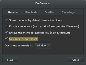 Use dark theme in Gnome 3.12