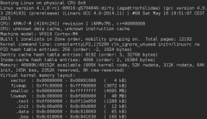 Vybrid Cortex-M4 Linux boot log